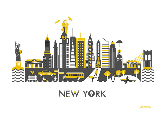 Souvent New Skyline Illustration – New York! | Kate McLelland PQ59